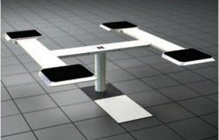 Elevador de Pistão 3.5T Tipo Vigas Area de fixação 1400-2000mm