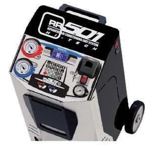 Maquina Operacional para AC AUTO - Ligeiros, Comerciais e Pesados com Dep.20Kg, Bomba 112Lt, Comp. 12Cc