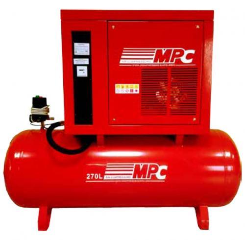 Compressor insonorizado de pistão 5.5HP 270L 10BAR 650L/Min