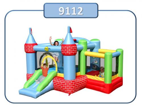 9112 - Insuflavel Castle Bouncer With Farmyard Ballpit