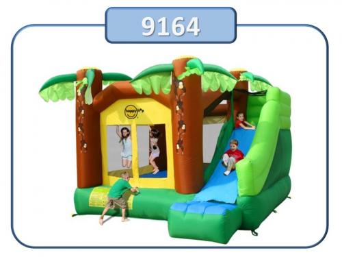 9164 - Insuflavel Jungle Climb and Slide Bouncy House