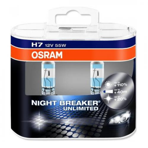 Lâmpada Osram H7 Night Breaker Unlimited Pack