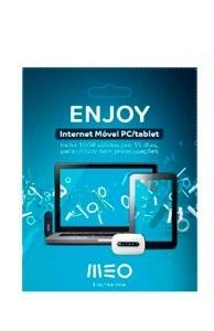 Cartão Internet Meo Enjoy - 15Gb p/ 15 dias