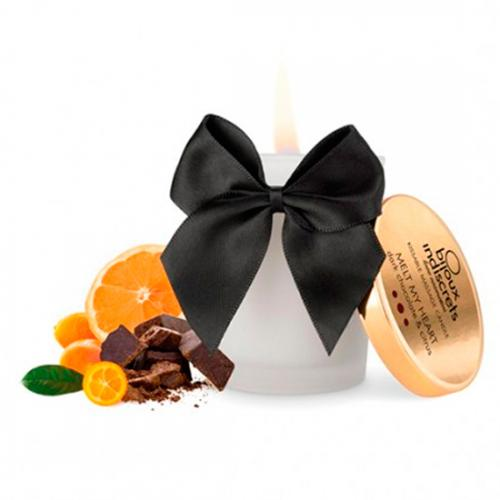 Vela Melt My Heart Bijoux Indiscrets Chocolate Preto e Citrinos 70 ml