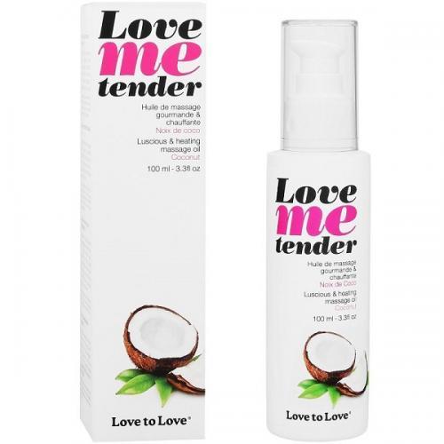 Óleo de Massagem Efeito Calor Love Me Tender Côco 100 ml