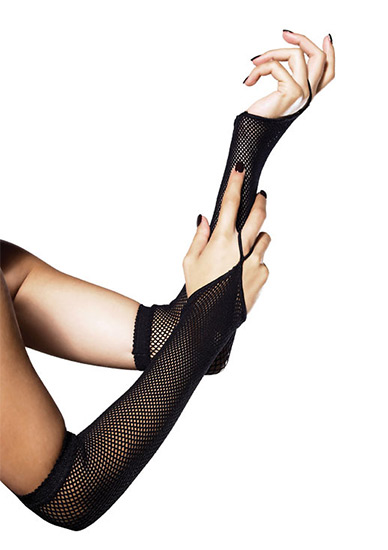 Luvas Fishnet Arm Warmers Pretas