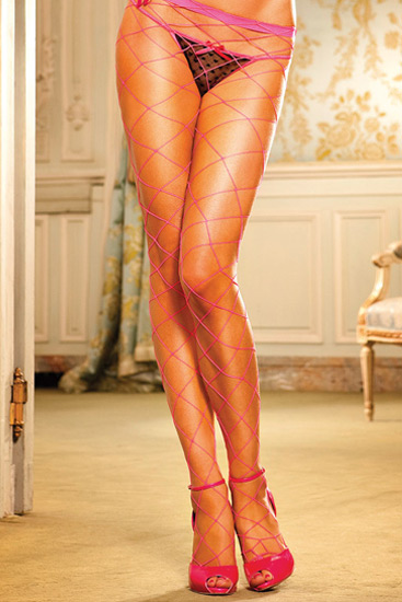 Collants Diamond Net Rosa