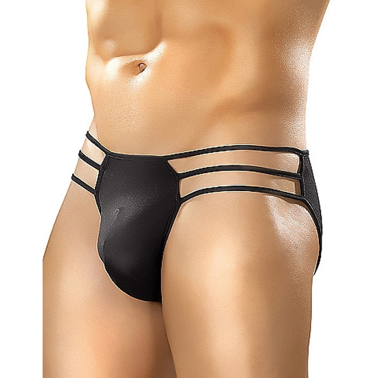 Slip Male Power Cage Brief Preto
